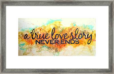 A Love Story Never Ends Framed Print by Ivan Guaderrama
