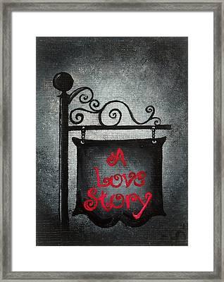 A Love Story No 10 Framed Print