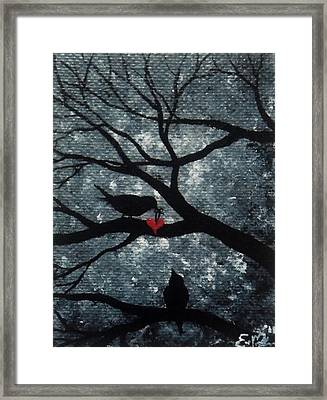 Framed Print featuring the painting A Love Story No 7 by Oddball Art Co by Lizzy Love