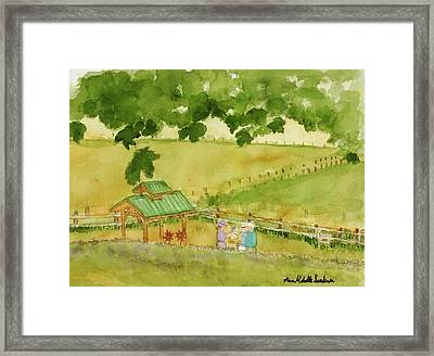 A Lovely Day At Lavender Hills Framed Print