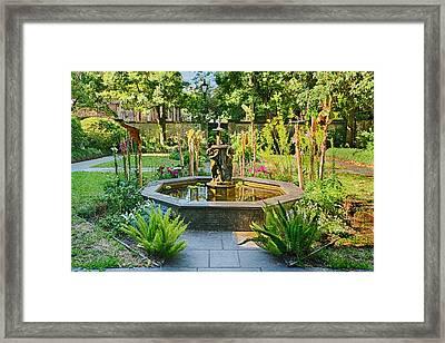 A Lovely Savannah Georgia Garden Framed Print