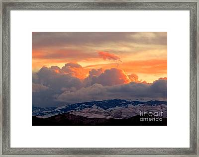 A Lovely Stormy Susnset Framed Print by Phyllis Kaltenbach