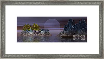 Framed Print featuring the digital art A Lover's Hide-a-way by Jacqueline Lloyd