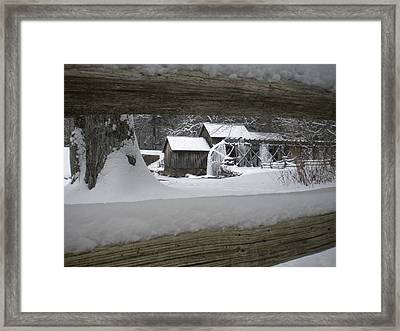 A Mabry Mill Winter Framed Print