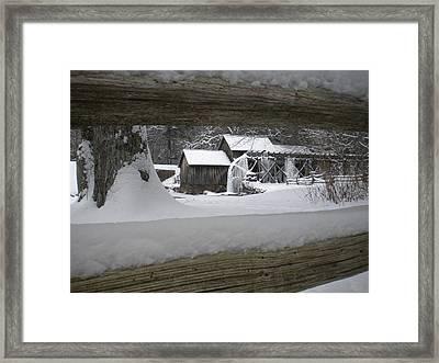 A Mabry Mill Winter Framed Print by Diannah Lynch