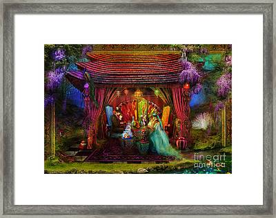 A Mad Tea Party Framed Print by Aimee Stewart