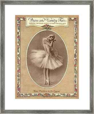 A Magazine Cover For Vanity Fair Framed Print by Artist Unknown