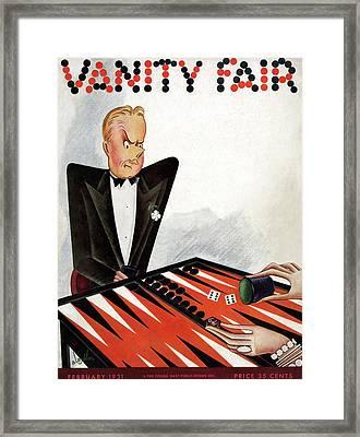 A Magazine Cover For Vanity Fair Framed Print