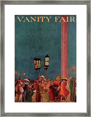 A Magazine Cover For Vanity Fair Of A Carnival Framed Print by Raymond Crawford Ewer