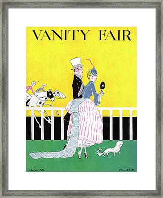 A Magazine Cover For Vanity Fair Of A Couple Framed Print