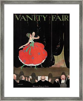 A Magazine Cover For Vanity Fair Of A Couple Framed Print by Thelma Cudlipp