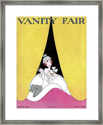 A Magazine Cover For Vanity Fair Of A Woman Framed Print by A. H. Fish