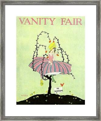 A Magazine Cover For Vanity Fair Of A Woman Framed Print by L. A. Morris