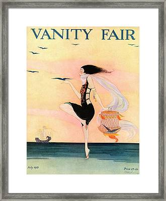 A Magazine Cover For Vanity Fair Of A Woman Framed Print by Rita Senger