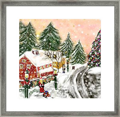 A Magical Frost Framed Print