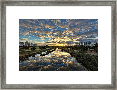 A Magical Marshmallow Sunrise  Framed Print