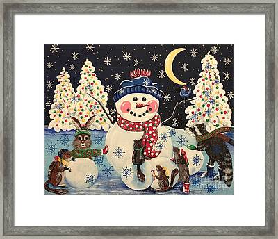A Magical Night In The Snow Framed Print