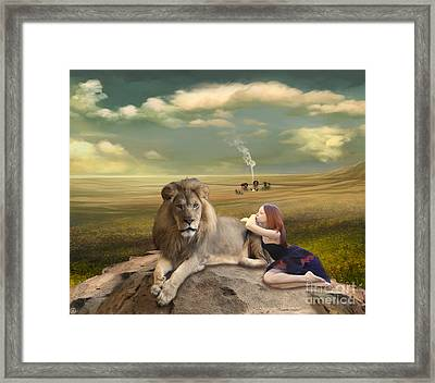 A Magnificent Friendship Framed Print by Linda Lees