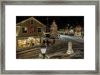 A Maine Christmas Framed Print by Joe Faragalli