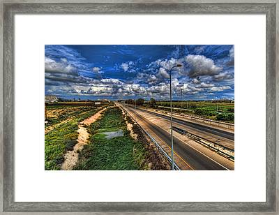 Framed Print featuring the photograph a majestic springtime in Israel by Ron Shoshani