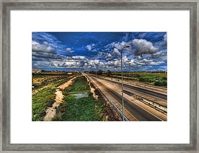 a majestic springtime in Israel Framed Print