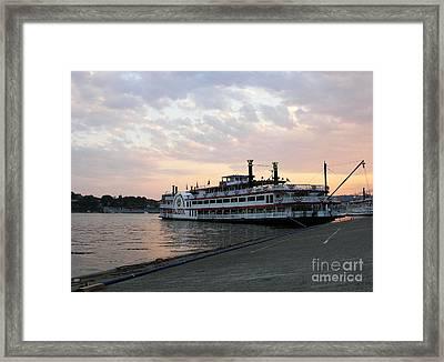 A Majestic Sunset Framed Print by Mel Steinhauer