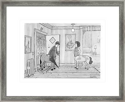 A Male Centaur Framed Print