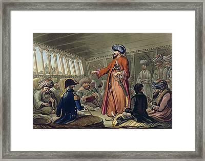 A Mameluke Delivering A Message Framed Print by Cooper Willyams