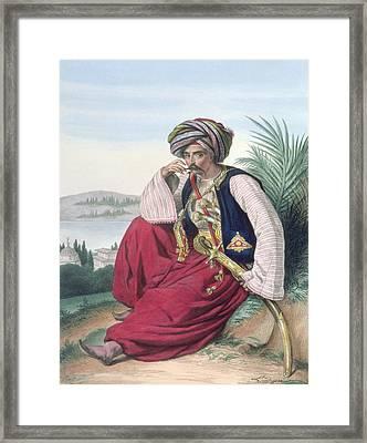 A Mameluke Or Slave Soldier, Engraved Framed Print