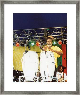 A Man And His Drums Framed Print