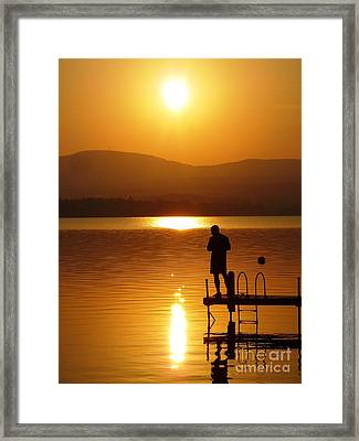 Framed Print featuring the photograph A Man And His Thoughts  by Mike Ste Marie