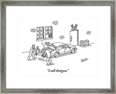 A Man Bound At The Hands And Feet Are Lifted Framed Print
