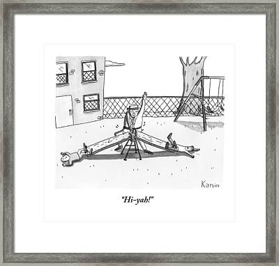 A Man Dressed In Martial Arts Garb Framed Print