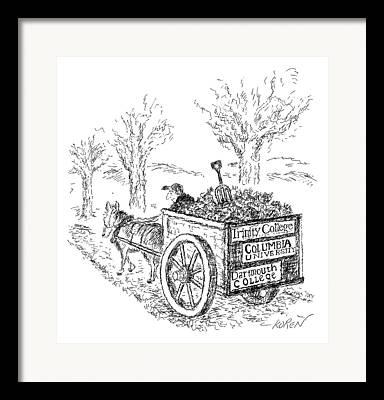 Wagon Drawings Framed Prints