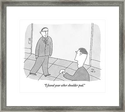 A Man In A Suit Walks Slightly Lopsided. Another Framed Print