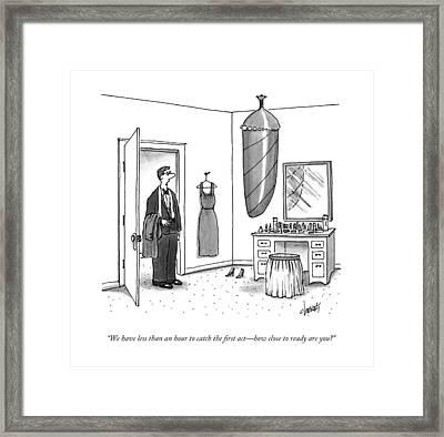 A Man In A Tuxedo Framed Print