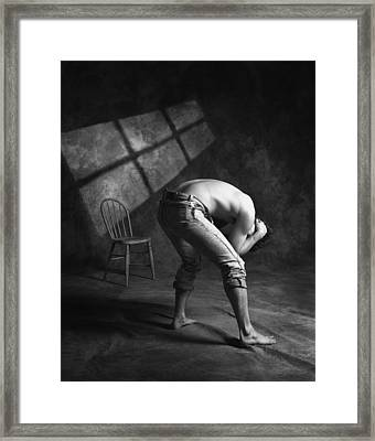 A Man In Anguish Framed Print by Don Hammond