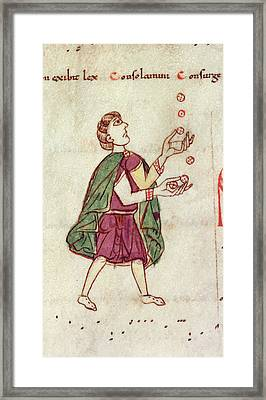 A Man Juggling Framed Print by British Library