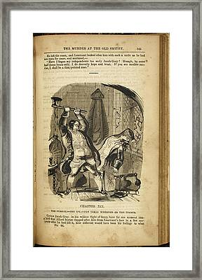A Man Murdering Another With An Axe Framed Print
