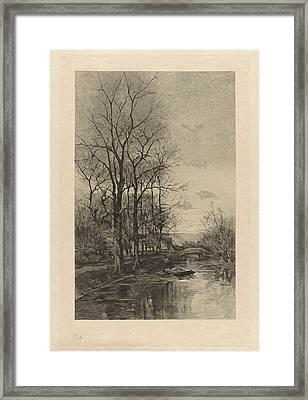 A Man On A Boat, Willem Steelink II Framed Print by Willem Steelink (ii)