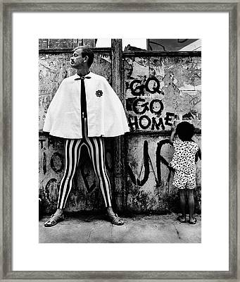 A Man Smoking A Cigarette Framed Print by Chadwick Hall
