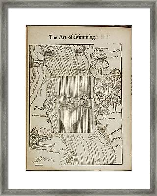 A Man Swimming Framed Print by British Library