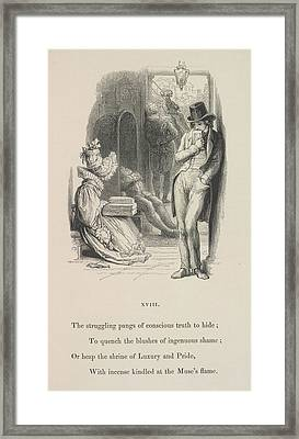 A Man Thinking Framed Print by British Library