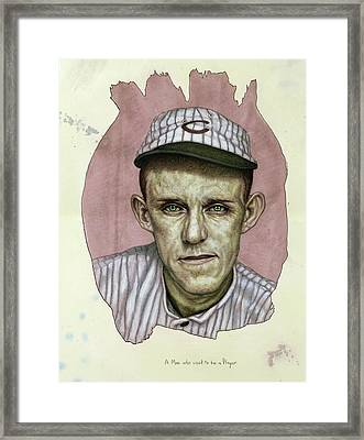 A Man Who Used To Be A Player Framed Print by James W Johnson