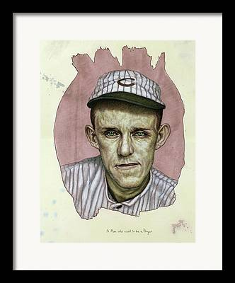 Second Baseman Framed Prints