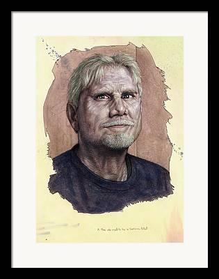 Self-portrait Drawings Framed Prints