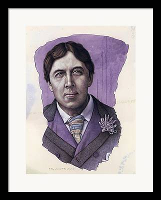 Oscar Wilde Framed Prints