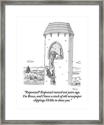 A Man Framed Print by Zachary Kanin