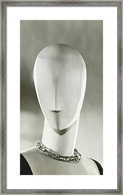 A Mannequin Wearing A Jean Fouquet Necklace Framed Print