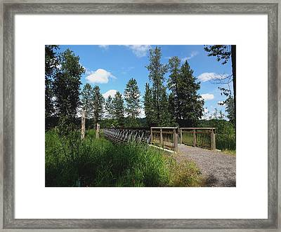 A Man's View Of Red Tail Lake Framed Print by Lizbeth Bostrom